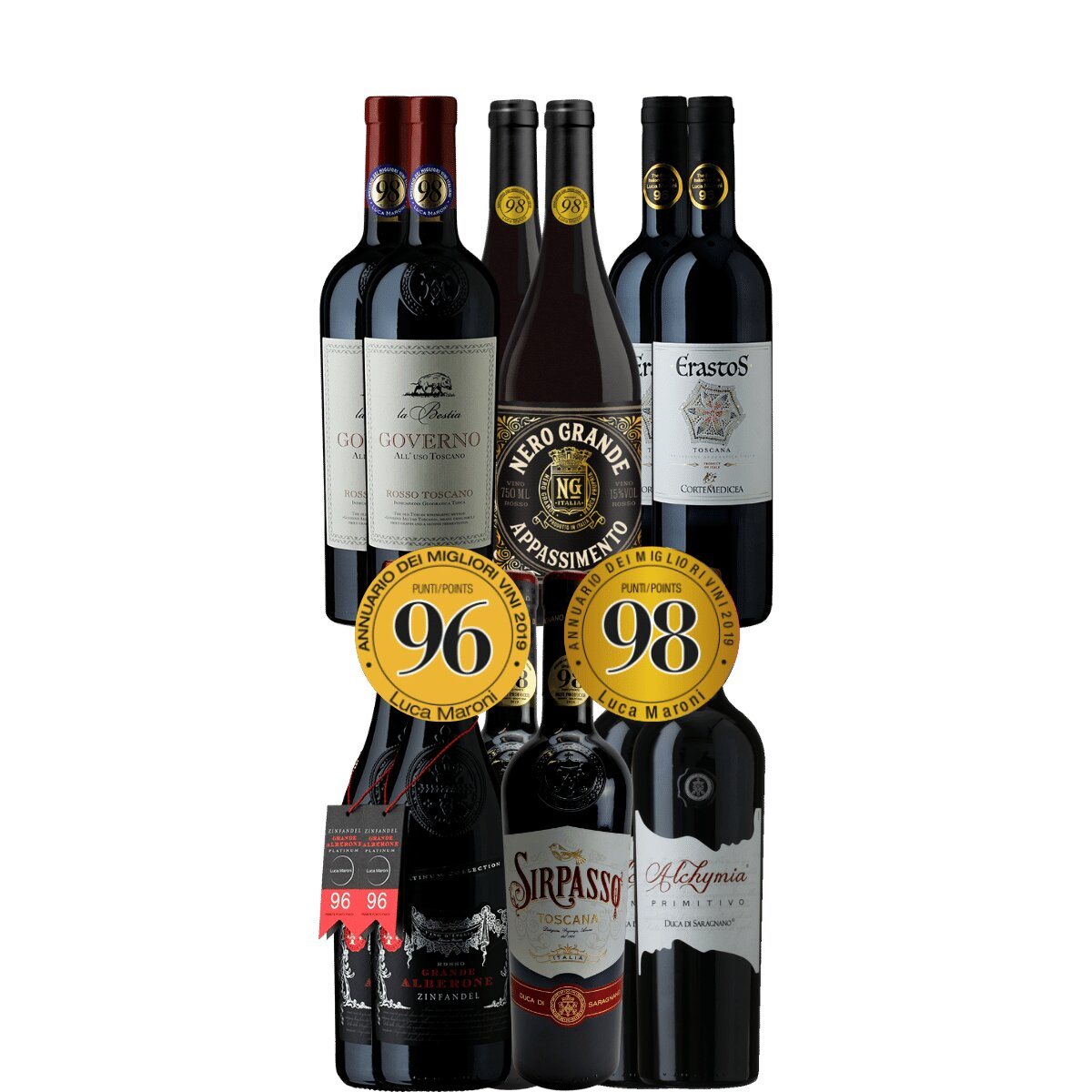 Bestseller-Paket Rotwein Italien (6x2 Fl.) -  - , , , ,