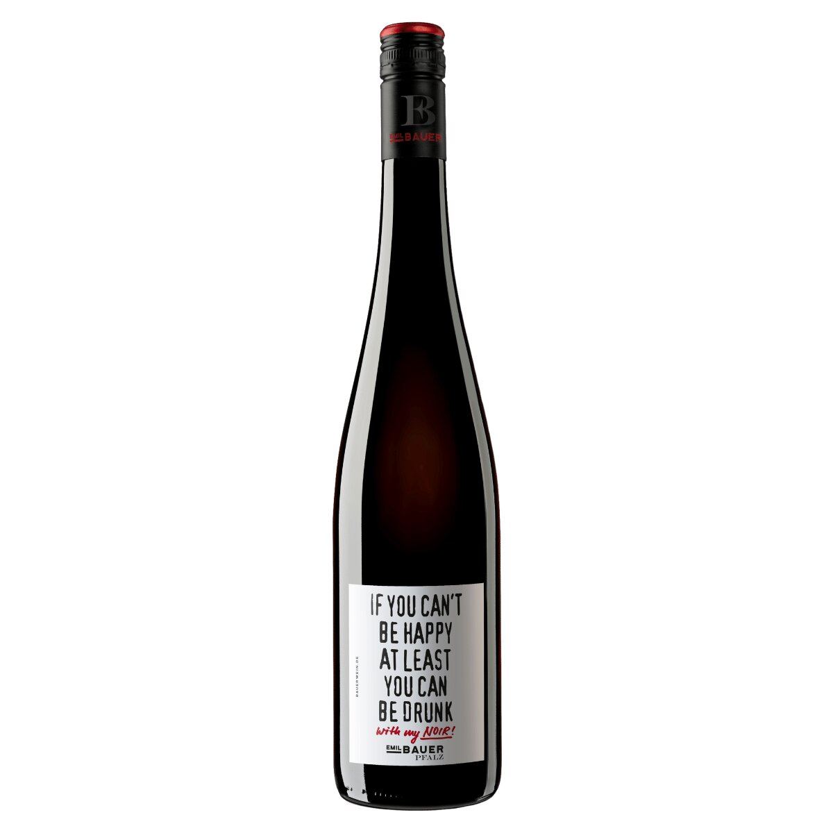 Cuvée Noir `If you can`t be happy at least you can be drunk` - Weingut Emil Bauer & Söhne - , , , ,